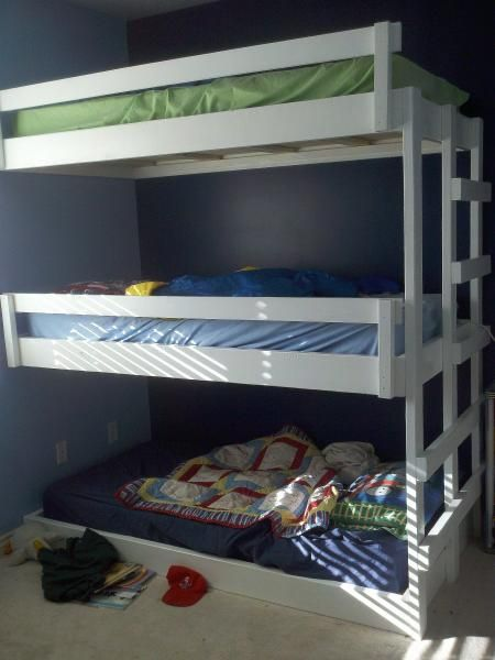 Easy Built in Triple Bunk Bed | Do It Yourself Home Projects from Ana White