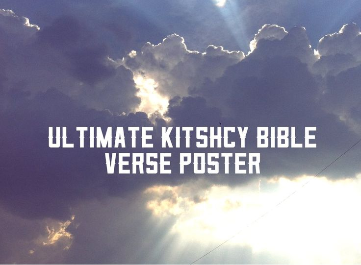 Ultimate Kitschy Bible Poster