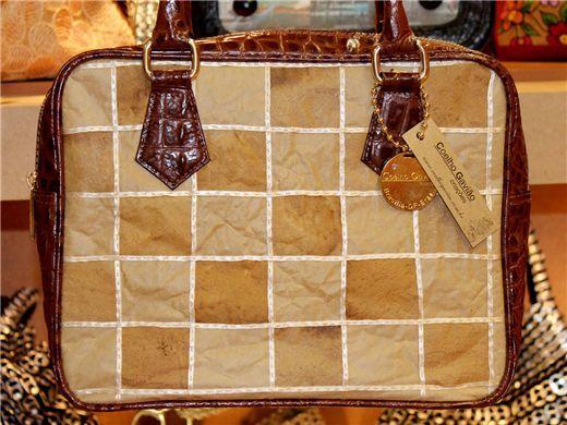 Bolsa Patchwork de saco de cimento e filtro de café descartados
