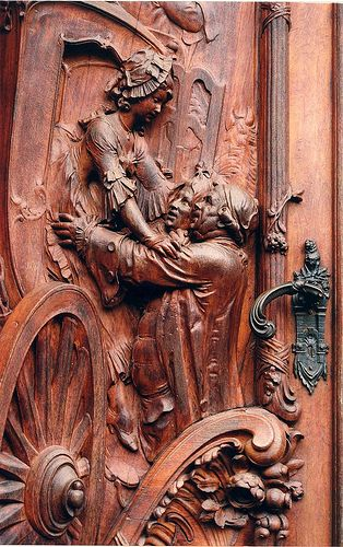 Carved door by russ2243, via Flickr, Worms, Germany