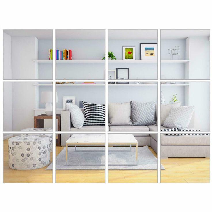 Elcoho 30 Pieces Flexible Mirror Sheets Selfadhesive
