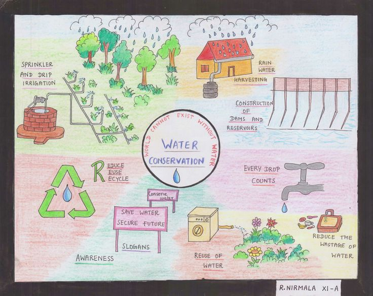 Poster on water conservation by r