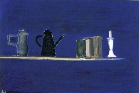 Nicolas de Staël - L'Etagère, 1955, (Huile sur toile, 89x130 cm, Musée Picasso, Antibes)
