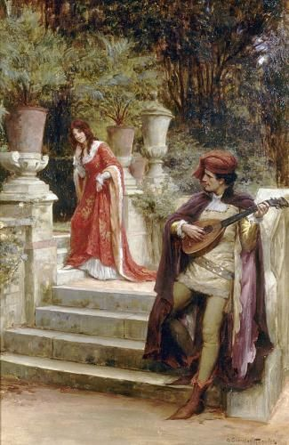 George Sheridan Knowles (1863-1931), The Minstrel's lady.
