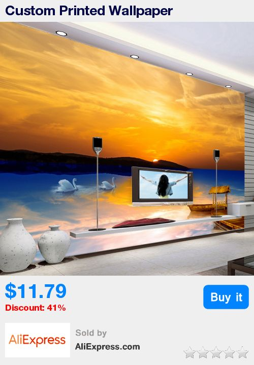 Custom Printed Wallpaper Mediterranean Style 3D Sunset Seascape Scenery Home Wall Decorations Living Room Bed Room Art Wallpaper * Pub Date: 03:49 Jul 6 2017