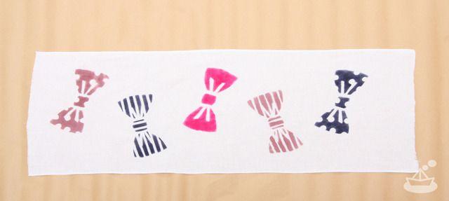 Japanese Tenugui 〈bowtie〉random | 手染めてぬぐい〈蝶ネクタイ〉らんだむ