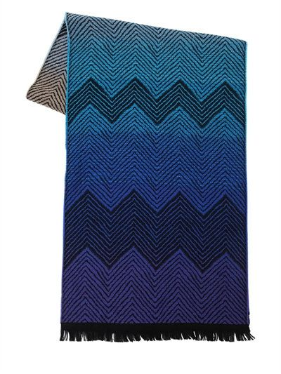 MISSONI - ZIG ZAG WOOL SCARF - SCARVES & WRAPS - MULTICOLOR - LUISAVIAROMA - Length: 180cm Width: 36cm . Pattern placement may vary slightly. Fringed edges