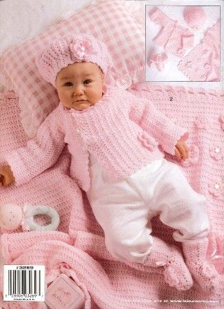 Crochet Layette Girl Free Pattern | Free Baby Patterns to Crochet ~ Free Crochet Patterns