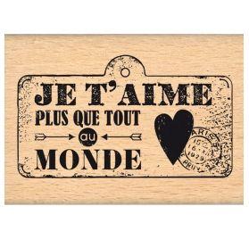 Tampon bois 'Florilèges Design - Caractères Authentiques' Mini Pancarte