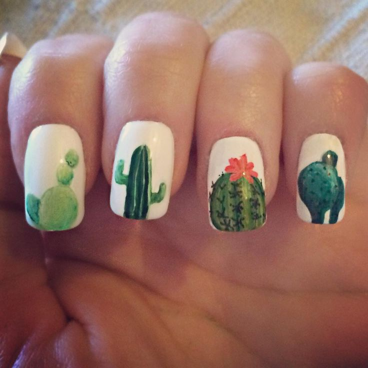 Love these cactus nails                                                                                                                                                      More
