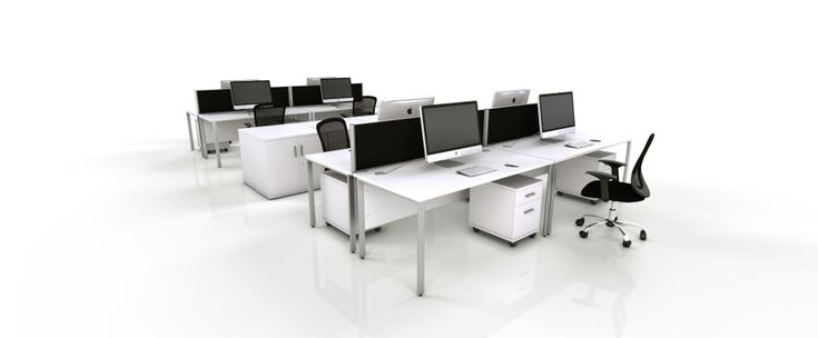 White Office Furniture Range - Black