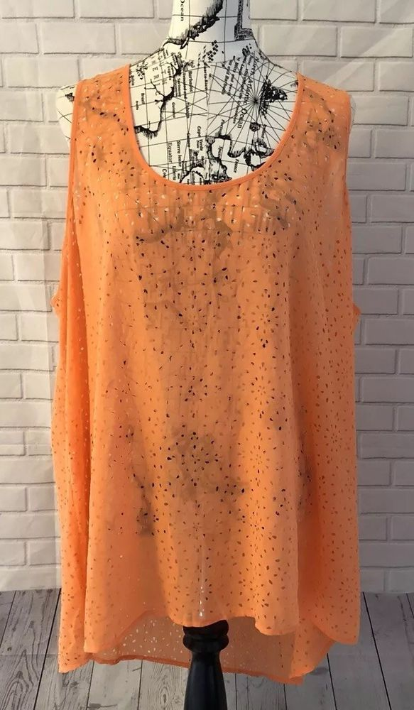 5c5691ace21 Womens Torrid Laser Cut Hi Low Tank Top Shirt Orange Plus Size 3  fashion   clothing  shoes  accessories  womensclothing  tops (ebay link)