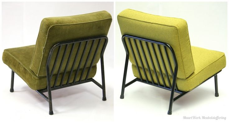 Upholstery Artifort chair, before and after.