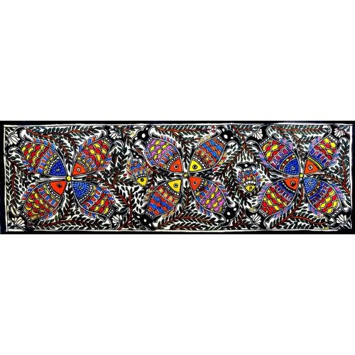 COLORED FISH SEQUENCE http://www.indiancraftsmen.com/art-c4ca4238a0b923820dcc509a6f75849b/madhubani/colored-fish-sequence