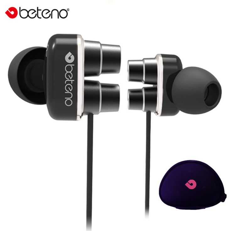 Original Stereo Dual Driver Unit Earphone In-Ear Super Bass Earbuds Earphones with Microphone For iPhone Android Phones #Affiliate