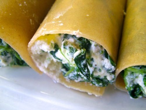 5 or less: Cannelloni met spinazie en ricotta