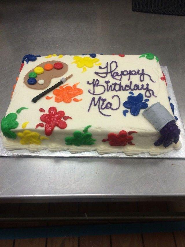 21+ Creative Photo of Birthday Cake For An Artist  – birthday cake easy