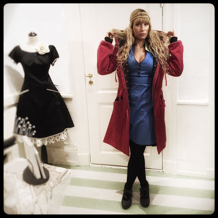 Trying out outfits on Tanja for the green catwalk on Thursday -  Come and meet leading sustainable fashion brands in Copenhagen on November 17th. Catwalk, lectures, wine and snacks. What's not to like…