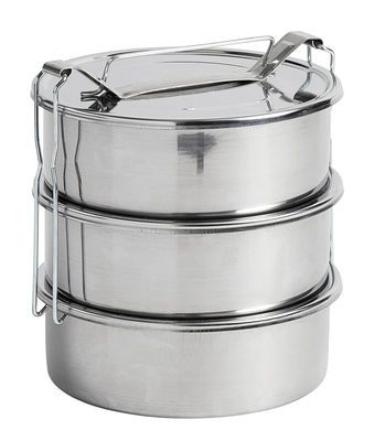 Pinic Lunch box - / 3 compartments 3 compartments / Steel by Hay - £39