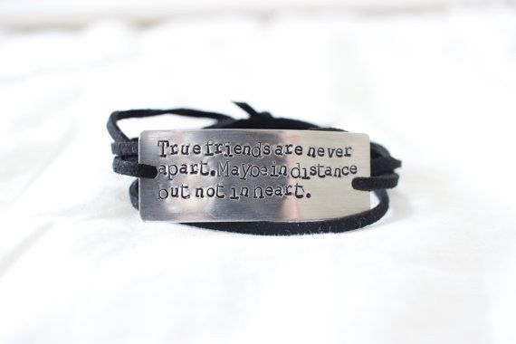 This woven bracelet with the truest words to have ever been written. | 19 Adorable Gifts For Your Long Distance BFF
