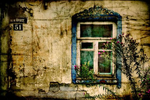 ysvoice:  | ♕ |  Rustic window - Blue   | by incolorwetrust