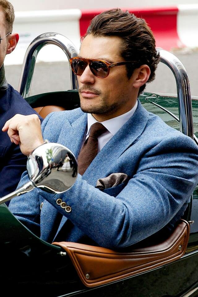 Love this blue suit, then again, may just be the man in it!