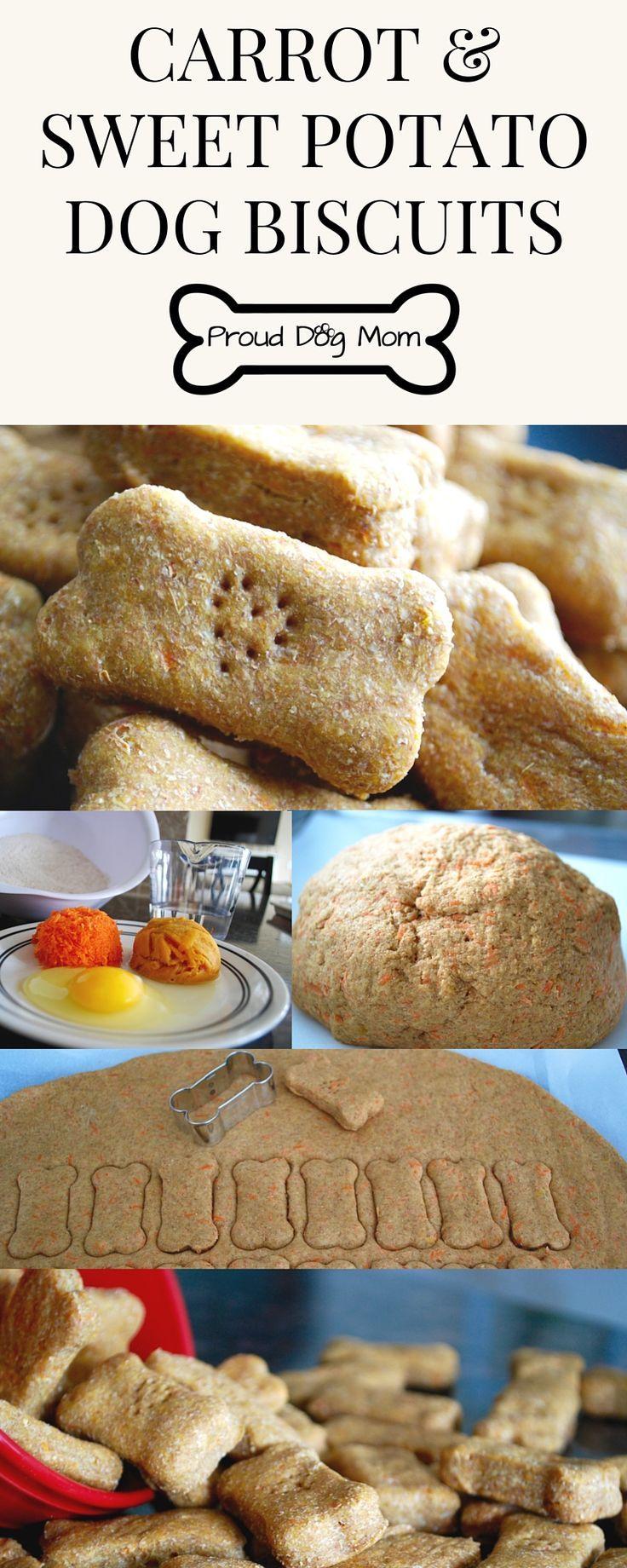 Easy Carrot & Sweet Potato Dog Biscuits   DIY Dog Treats   Healthy Dog Treats  