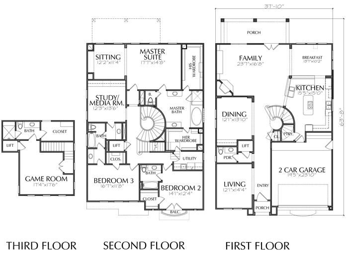 2 1 2 Story Urban House Plan E0106 House Plans How To Plan