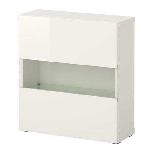 BESTÅ Shelf Unit With Glass Door, White, Tofta High Gloss/white White