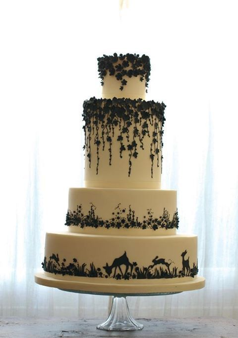 enchanted forest wedding cake... something like this except with weeping willow trees