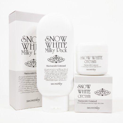 Amazon.com: [Secret Key] Snow White Milky Pack 200g + Snow White Cream 50g Lightening From Thailand.: Everything Else