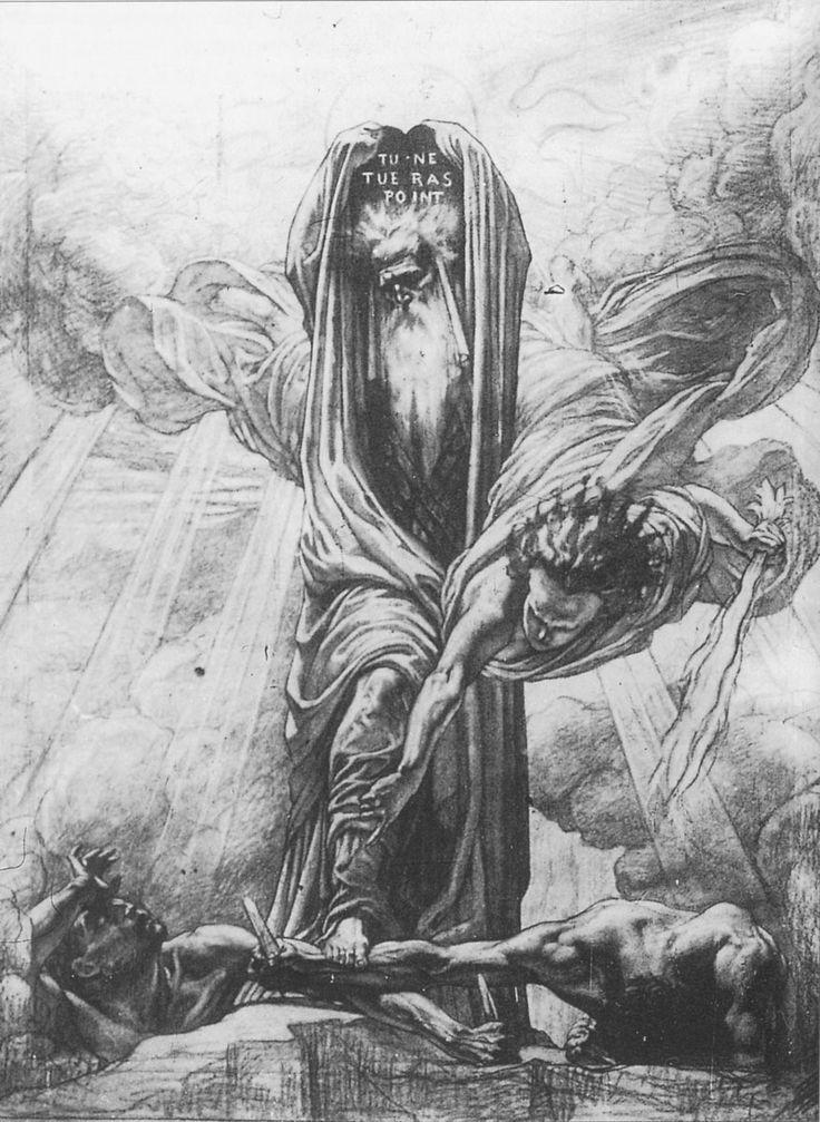 """La Loi Morale"" or ""La Justice de Moïse"" // Jean Delville"