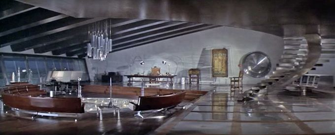 "Two Arco Flos Floor Lamps spotted in Bond movie ""Diamonds Are Forever""."