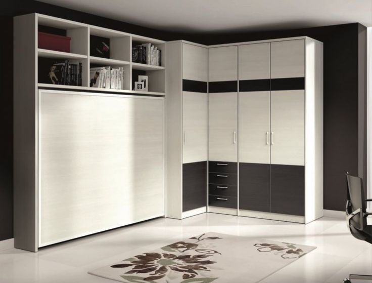 Les 25 meilleures id es concernant armoire lit escamotable sur pinterest bu - Lit avec television escamotable ...