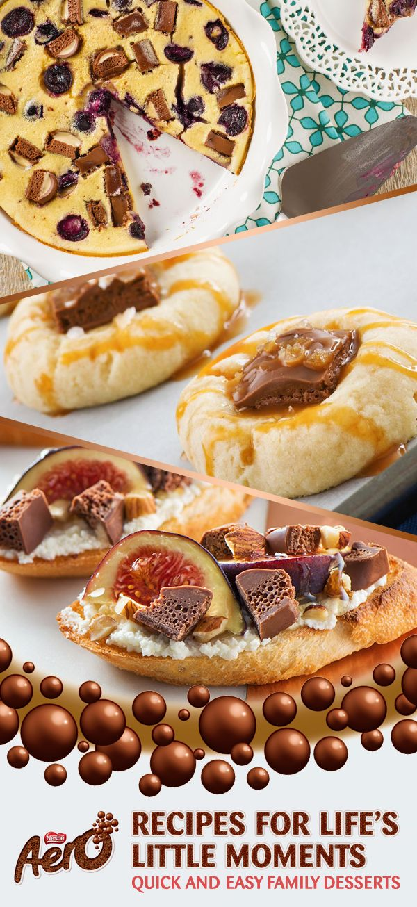 Searching for some beginner-level dessert ideas that the whole family will go wild for? Try something with a fruity twist like the Vanilla AERO Truffle Clafouti or Chocolate Fig Crostini or go all-out indulgence with these to-die-for Salted Caramel Thumbprint Cookies. Click to discover the full recipes.