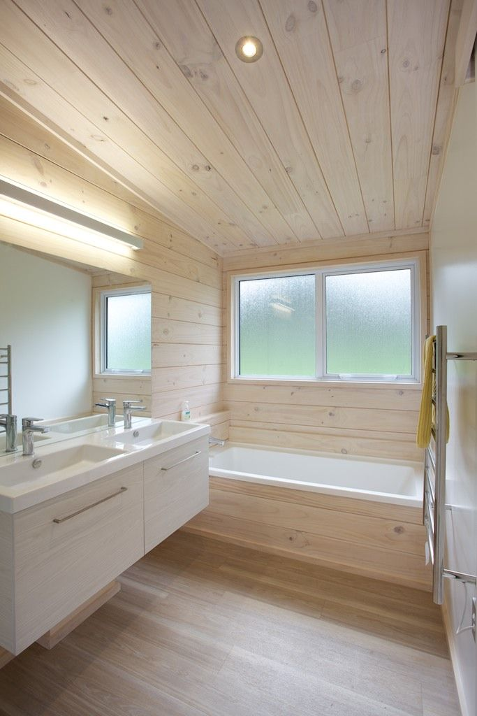 Bathroom in Lockwood holiday home at Snells Beach