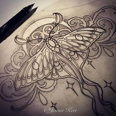 Image result for luna moth tattoo pictures
