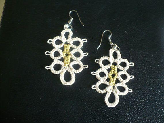 Beautifully designed beige earrings by LoveCraftingForYou on Etsy, $10.00