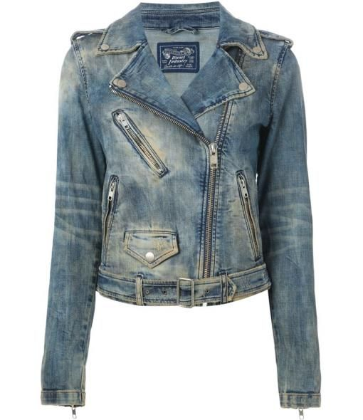 Farfetch - DIESEL denim biker jacket