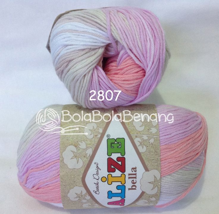 Alize Bella Batik 2807, Price: Rp.65.000,- /gulung, Bahan: 100% COTTON, Berat/Panjang: 50gram/180mt, Knitting Needles: 2mm - 4mm, Crochet Hook: 1mm - 3mm