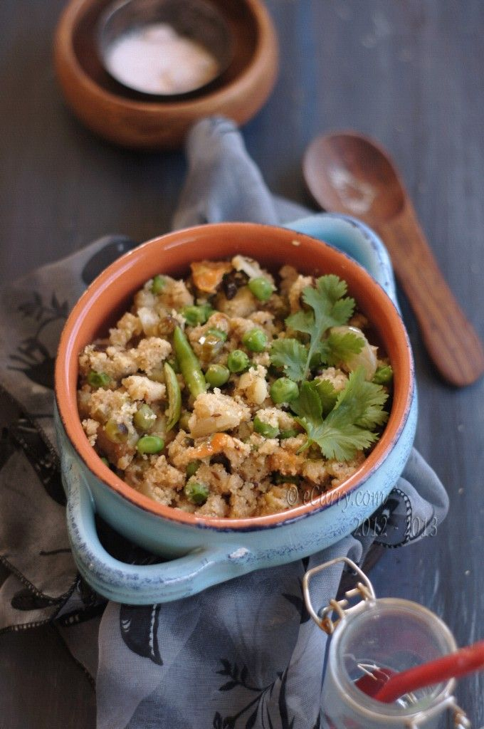 Semolina and Vegetable Pulao/Pilaf, from eCurry