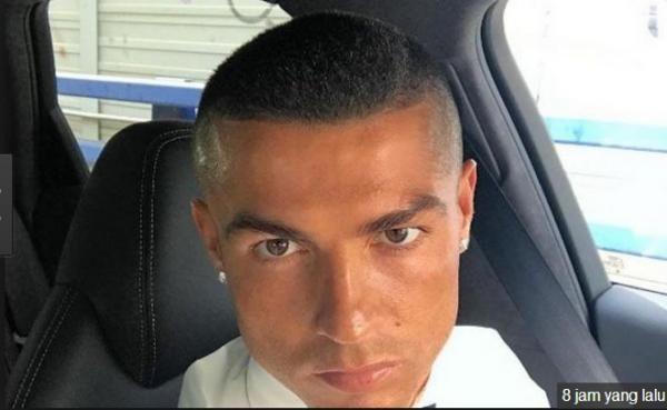 Paska Kemenangan Real Madris, Ronaldo Pamer Gaya Rambut Baru