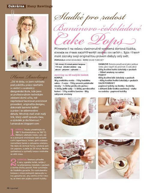 Hana Rawlings Cake Design: Cake Pops pro Gurmet