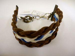 革ひものブレスレット Leather strap bracelet