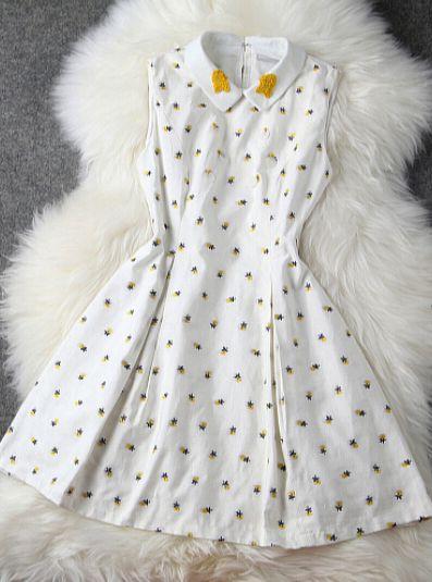 Sleeveless vest dress