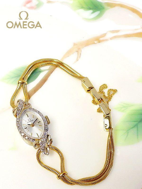 OMEGA(オメガ) ダイヤとマーキースのレディースアンティークウォッチ