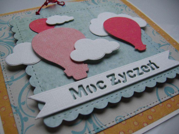 Kartka urodzinowa imieninowa uniwersalna życzenia  - Projectgallias - Kartki urodzinowe Birthday cards, balloons, handmade, scrapbooking