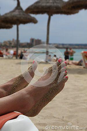 City beach of Playa de Palma. Mallorca, Spain