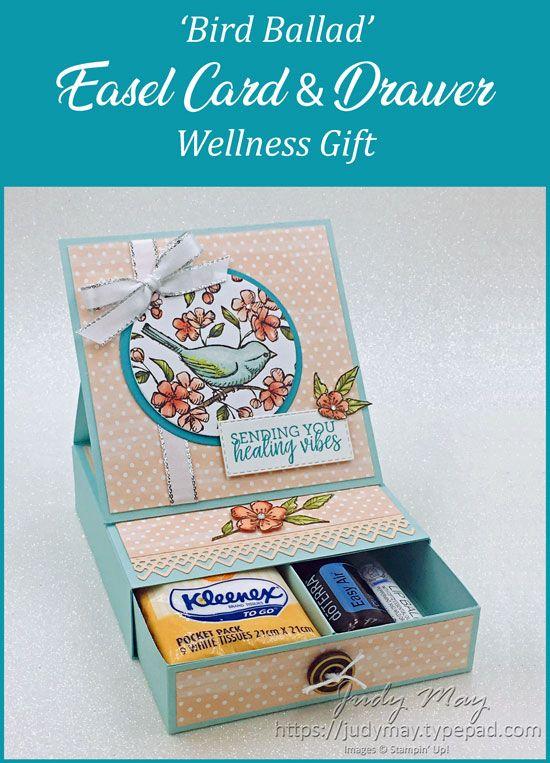 Stampin' Up! Bird Ballad Suite | Easel Card & Gift Box Drawer – Judy May, Ju…