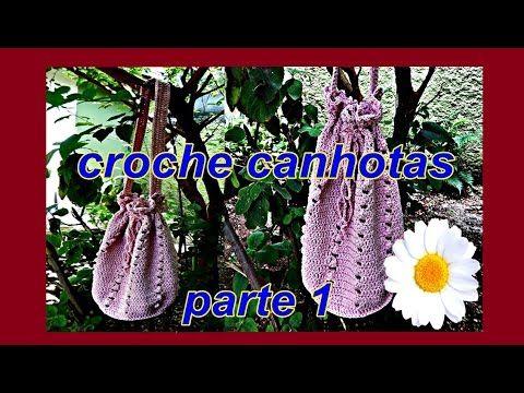 Bolsa em crochê Versão Canhotos Aprender Croche Canhotas 1ª parte